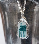 Danish House from a mid-century saucer necklace by Mike-Scott-Straight