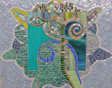 Mosaic panel by Laura Lyn Stern