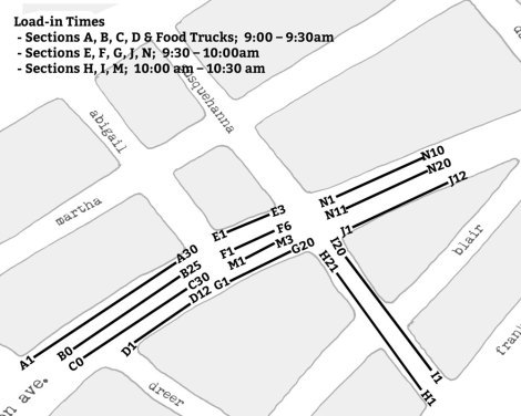 Trenton Avenue Arts Festival vendor map